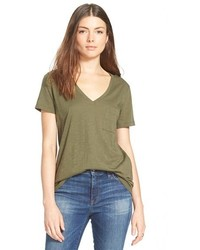 Whisper cotton v neck pocket tee medium 559119