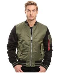Alpha Industries Ma 1 Varsity Flight Jacket Coat