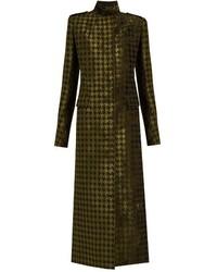 Olive Velvet Coat