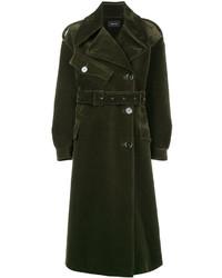 Bonded velvet trench coat medium 6844419