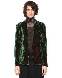 Ann Demeulemeester Iridescent Crushed Velvet Jacket