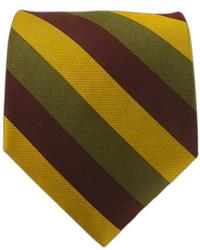 The Tie Bar Draper Stripe Olivegoldcrimson