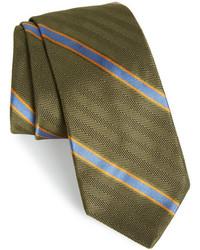 Gitman Stripe Silk Cotton Woven Tie