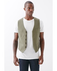 Forever 21 Button Front Chino Vest