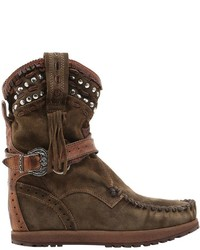 EL VAQUERO 70mm Yara Studded Wedge Ankle Boots