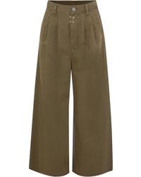 MM6 MAISON MARGIELA Cotton Twill Wide Leg Pants