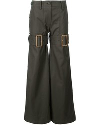Sacai Buckle Strap Flared Trousers