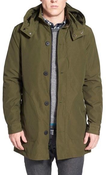Penfield Ashfield Water Resistant Rain Jacket With Detachable Hood ...