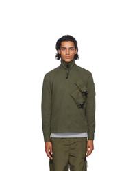 C.P. Company Green Gabardine Lens Shirt