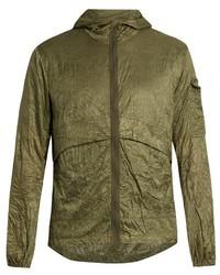 Satisfy Self Stowing Nylon Windbreaker Jacket