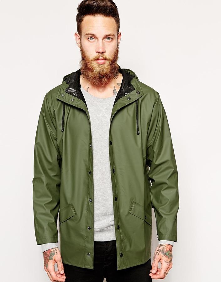 338f7a4b3 $122, Rains Short Waterproof Jacket
