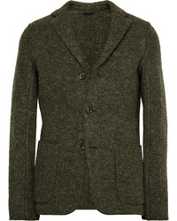 Olive Wool Blazer