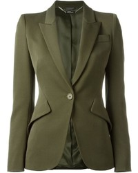 Alexander McQueen One Button Blazer