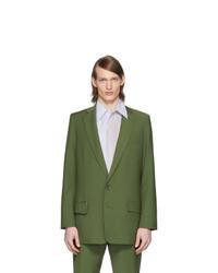 Tibi Green Eamon Long Blazer