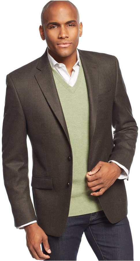Lauren Ralph Lauren Olive Tic Sport Coat | Where to buy & how to wear