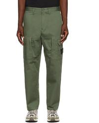 Stone Island Khaki Cotton Cargo Pants