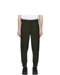 Neil Barrett Khaki Wool Cargo Pants