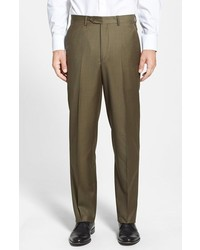 Olive Wool Dress Pants