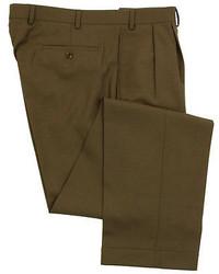 Ralph Lauren New Nwt Olive Light Brown Wool Dress Pants