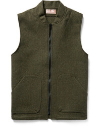 Olive Wool Gilet