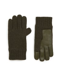 UGG Leather Palm Knit Gloves