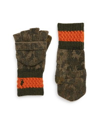 Polo Ralph Lauren Wool Camouflage Convertible Glove