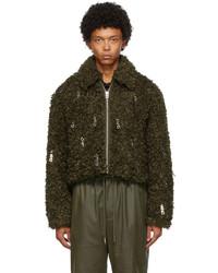 Olive Wool Harrington Jacket