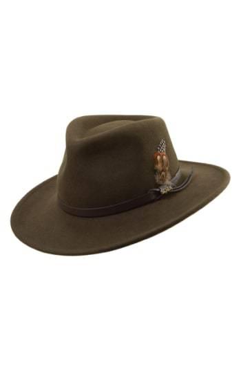4ea95d4de67c3 ... Wool Hats Scala Classico Crushable Felt Outback Hat