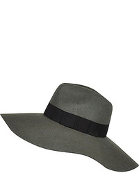 River Island Green Oversized Fedora Hat