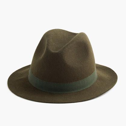 ... J.Crew Short Brimmed Italian Wool Felt Hat ... 88e5b7ca524