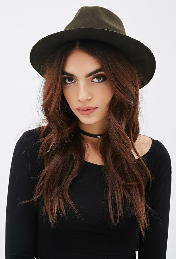 ... Hats Forever 21 Twisted Band Wool Fedora ... 68ba54f8831