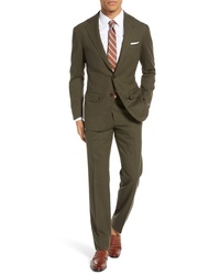 Ring Jacket Trim Fit Solid Wool Suit
