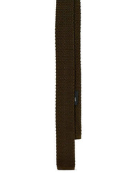 Olive Wool Tie
