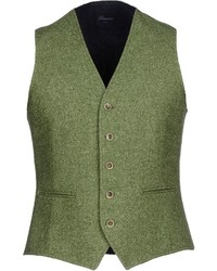 Olive Wool Waistcoat