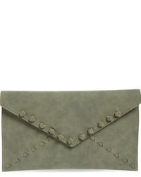 Tina faux leather envelope clutch black medium 801374