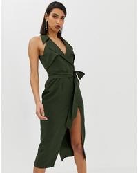 ASOS DESIGN Midi Trench Dress In Soft Crepe