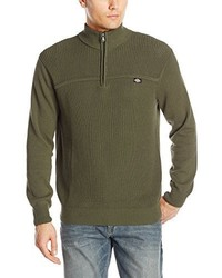Dickies Buster Solid Shaker Stitch Mock Neck Sweater