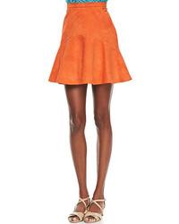 Nonoo Alicia Flared Suede Skirt