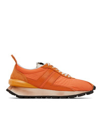 Lanvin Orange Bumper Sneakers