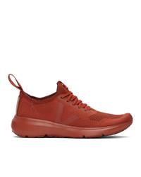 Rick Owens Orange Veja Edition Sock Runner Sneakers
