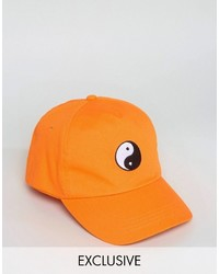 Reclaimed Vintage Inspired Baseball Cap With Yin Yang Embroidery