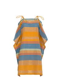 A Peace Treaty Silk Marigold Stripe Dress