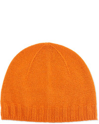 Neiman Marcus Cashmere Blend Beanie Hat Orange