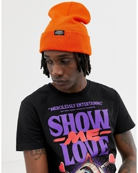 Cheap Monday Logo Beanie In Orange