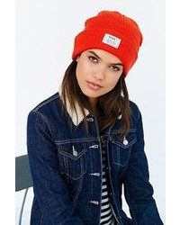Urban Outfitters Reason Patch Ribbed Knit Beanie