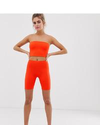 Orange Bike Shorts