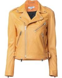 Orange Biker Jacket