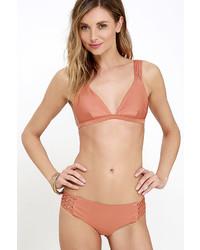 Amuse Society Ana Terra Cotta Orange Bikini Bottom