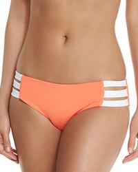 Block party strappy side swim bottom nectarine medium 783206