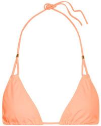 Heidi Klein Bermuda Triangle Bikini Top Peach